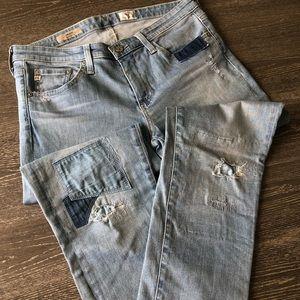 Ag Adriano Goldschmied Jeans - AG The Stilt Cigarette Leg patch work jeans